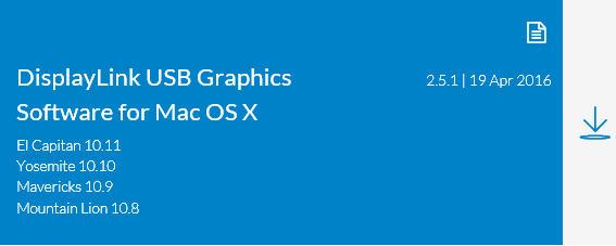 2016最新Displaylink外置USB显卡MAC苹果电脑OSX系统中文驱动