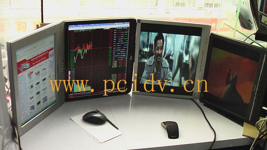 pcidv.com/一机多屏拼接分屏显示不同内容网页+视频+图片+文档