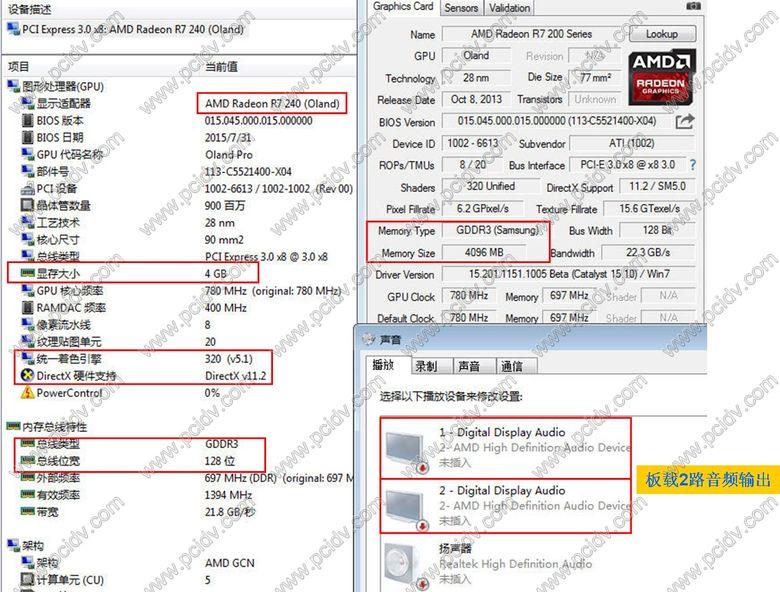 pcidv.com/r7 240 4g ddr3 dual hdmi lp made in China