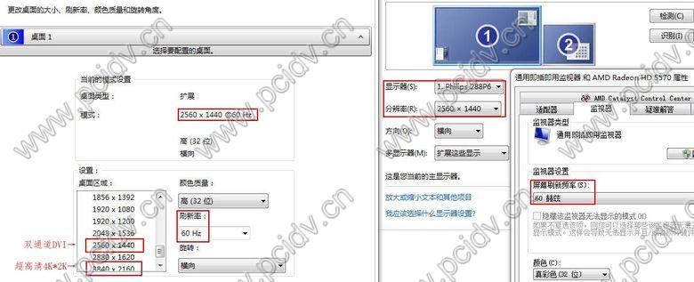 pcidv.com/active主动式DP转双链路DVI分辨率EDID列表