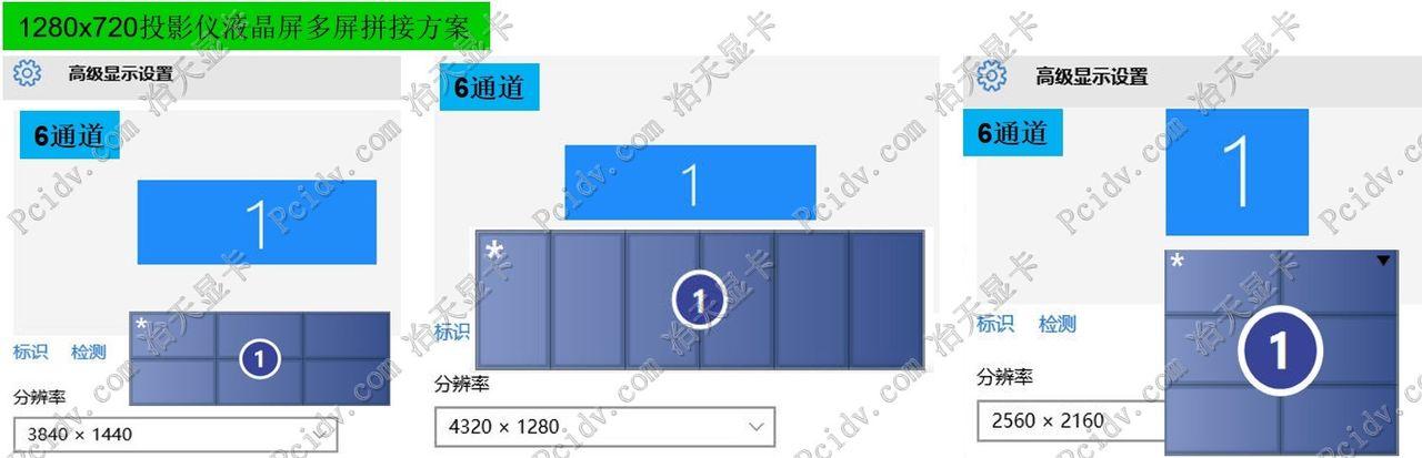 pcidv.com/宽屏1280*720工程投影机多屏拼接融合分辨率