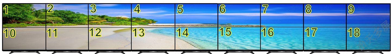 2行9列18屏拼接点对点显示液晶大屏幕墙