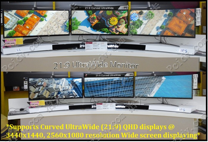 pcidv.com/显卡单口支持21:9显示器电视分辨率2560*1080或3840*1440