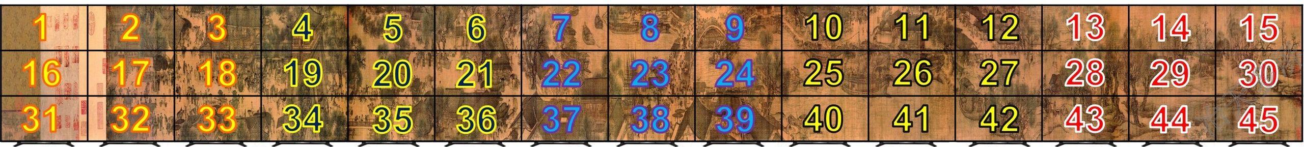 3行15列45屏拼接液晶大屏幕墙方案