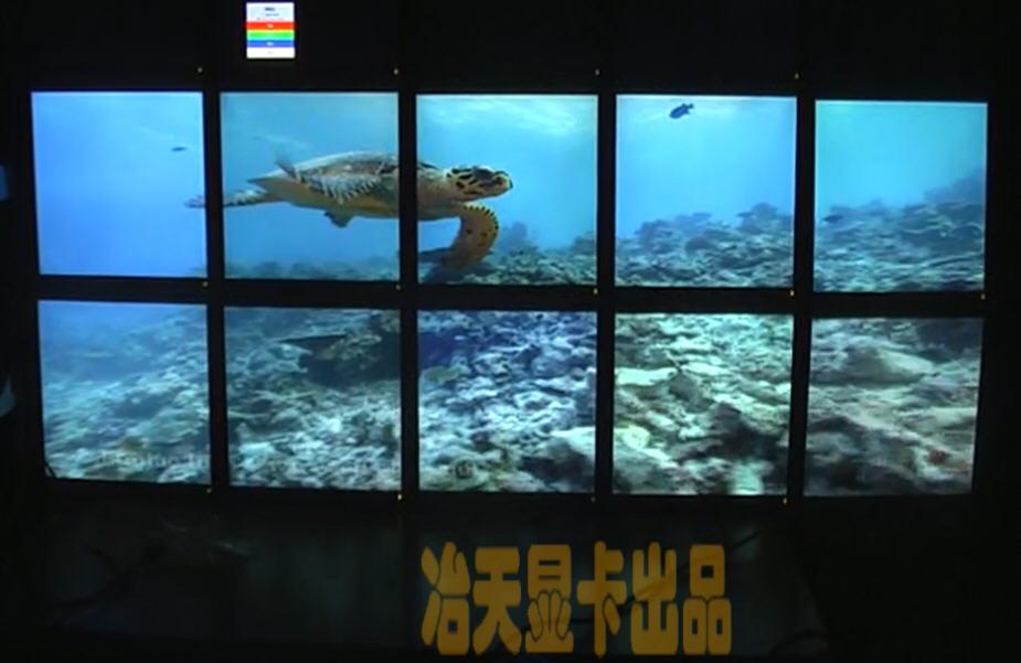 pcidv.com/电视墙10屏拼接墙视频点对点显示2行5列