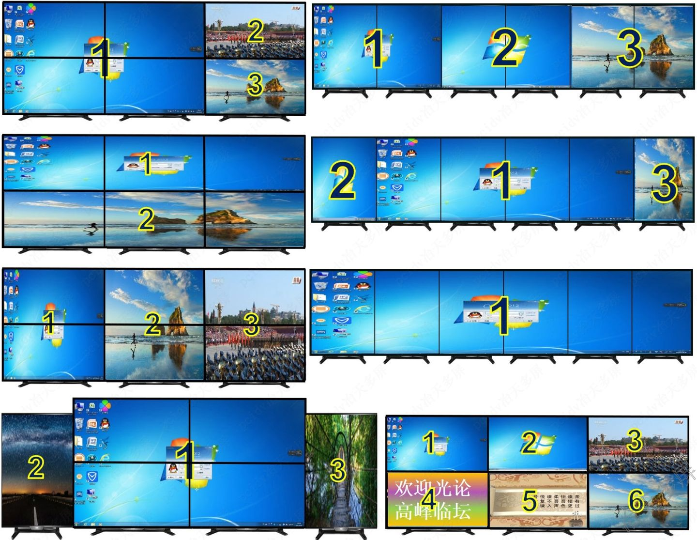 6屏显示任意拼接多种组合