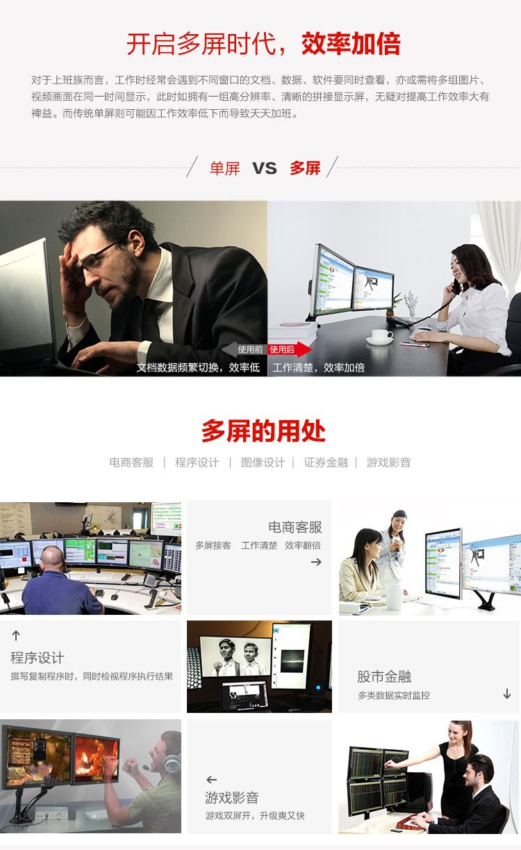 pcidv.com/一机多屏显示电脑,股票机,图像设计应用场景