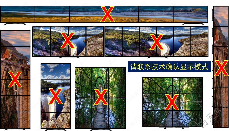 6行1列6屏拼接竖屏拼接用冶天品牌什么型号多屏显卡