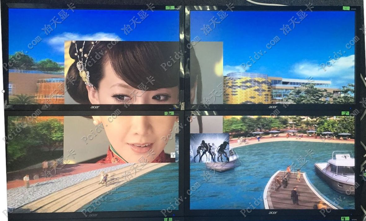 pcidv.com/多屏拼接电视墙视频嵌入视频嵌套任意开窗画中画显示